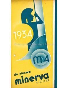 1934 MINERVA M4 4 CYL. 12PK BROCHURE NEDERLANDS
