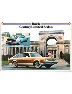 1979 BUICK CENTURY LIMITED SEDAN LEAFLET DUTCH