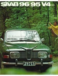 1969 SAAB 95 96 V4 PROSPEKT NIEDERLANDISCH