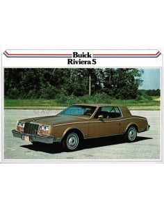 1979 BUICK RIVIERA S LEAFLET DUTCH