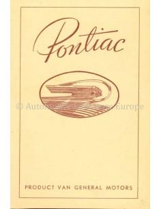1936 PONTIAC PRICE LIST BROCHURE DUTCH