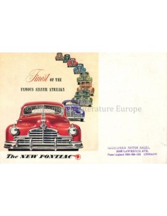 1945 PONTIAC FINEST OF THE FAMOUS SILVER STREAKS BROCHURE ENGELS