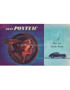 1947 PONTIAC STREAMLINER / TORPEDO PROGRAMM PROSPEKT ENGLISCH
