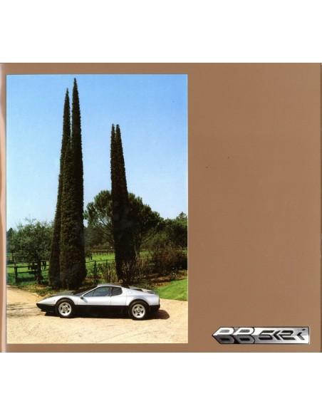 1982 FERRARI 512I BB BROCHURE 221/81