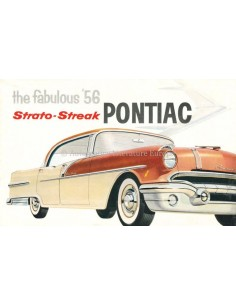 1956 PONTIAC STRATO-STREAK V8 RANGE BROCHURE ENGLISH