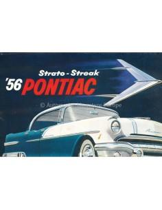 1956 PONTIAC STRATO-STREAK V8 PROGRAMM PROSPEKT ENGLISCH