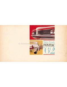 1962 PONTIAC WIDE-TRACK MODELLEN BROCHURE ENGELS