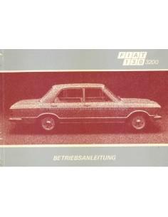 1972 FIAT 130 3200 SALOON OWNERS MANUAL GERMAN