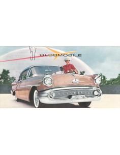 1957 OLDSMOBILE SERIES 88 / SERIES 98 PROGRAMMA BROCHURE ENGELS