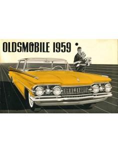 1959 OLDSMOBILE SERIES 88 / SERIES 98 PROGRAMM PROSPEKT NIEDERLÄNDISCH