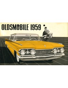1959 OLDSMOBILE SERIES 88 / SERIES 98 PROGRAMMA BROCHURE NEDERLANDS