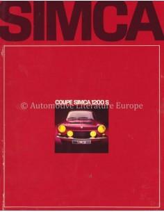 1968 SIMCA 1200 S COUPE PROSPEKT NIEDERLÄNDISCH
