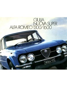 1976 ALFA ROMEO GIULIA NUOVA SUPER 1300 1600 BROCHURE DUTCH