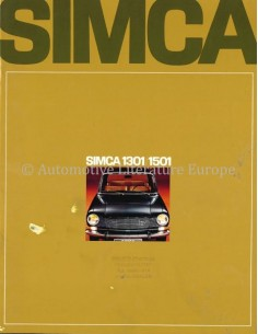 1968 SIMCA 1301 / 1501 BROCHURE DUTCH