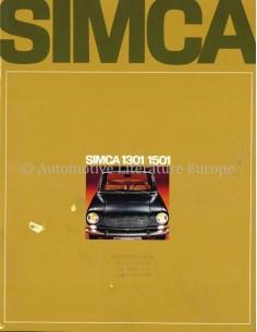 1968 SIMCA 1301 / 1501 PROSPEKT NIEDERLÄNDISCH