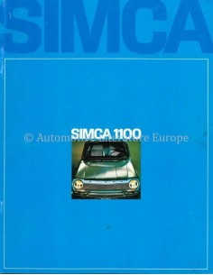 1968 SIMCA 1100 BROCHURE DUTCH