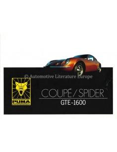 1973 PUMA 1600 GTE COUPE / SPIDER BROCHURE ENGLISH