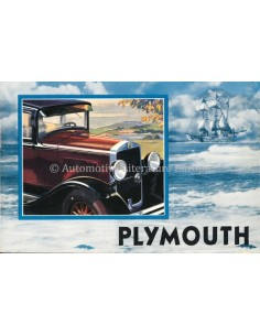 1930 PLYMOUTH PROGRAMMA BROCHURE + SUPPLEMENT