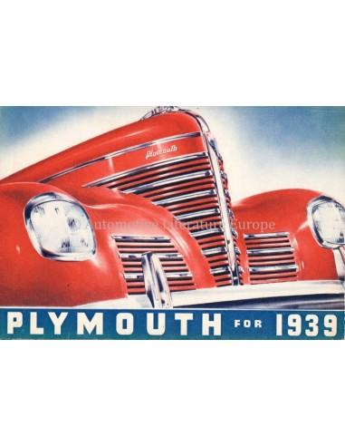 1939 PLYMOUTH PROGRAMM PROSPEKT ENGLISCH