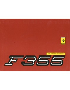 1998 FERRARI F355 OWNERS MANUAL 1422/98