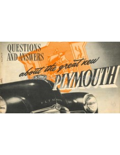 1949 PLYMOUTH DE LUXE QUESTIONS AND ANSWERS PROSPEKT ENGLISCH