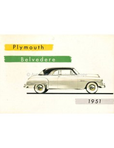 1951 PLYMOUTH BELVEDERE BROCHURE ENGLISH