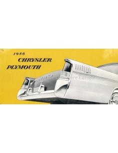 1956 CHRYSLER / PLYMOUTH PROGRAMM PROSPEKT NIEDERLÄNDISCH