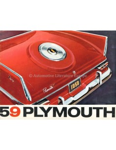 1959 PLYMOUTH PROGRAMM PROSPEKT ENGLISCH