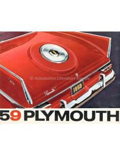1959 PLYMOUTH PROGRAMMA BROCHURE ENGELS
