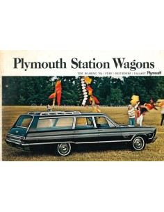 1965 PLYMOUTH STATION WAGONS PROGRAMMA BROCHURE ENGELS