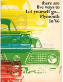 1966 PLYMOUTH RANGE BROCHURE ENGLISH