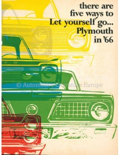 1966 PLYMOUTH PROGRAMM PROSPEKT ENGLISCH