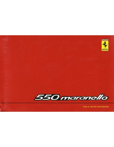 1996 FERRARI 550 MARANELLO INSTRUCTIEBOEKJE 1106/96