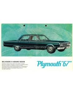 1967 PLYMOUTH BELVEDERE II / VALIANT SIGNET BROCHURE NEDERLANDS