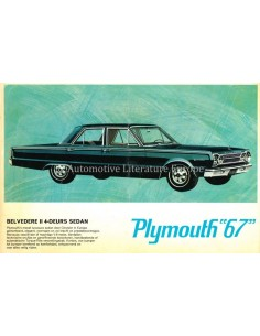 1967 PLYMOUTH BELVEDERE II / VALIANT SIGNET BROCHURE DUTCH