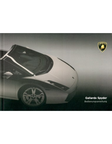 2007 Lamborghini Gallardo Spyder Owners Manual German