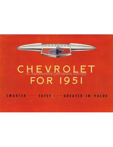 1951 CHEVROLET PROGRAMM PROSPEKT ENGLISCH (VS)