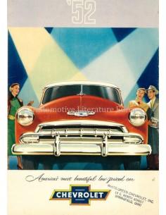 1952 CHEVROLET RANGE BROCHURE ENGLISH (US)
