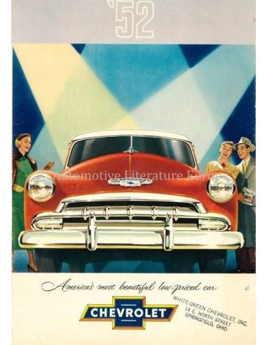 1952 CHEVROLET PROGRAMM PROSPEKT ENGLISCH (VS)
