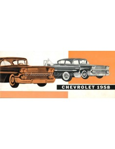 1958 CHEVROLET RANGE BROCHURE DUTCH