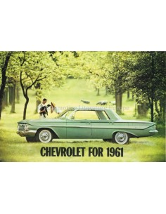 1961 CHEVROLET RANGE BROCHURE ENGLISH (US)