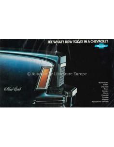 1977  CHEVROLET PROGRAMM PROSPEKT ENGLISCH (VS)