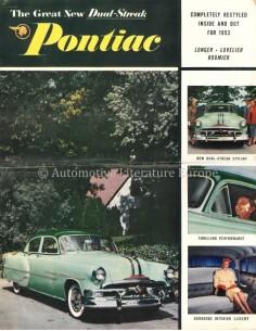 1953 PONTIAC CHIEFTAIN / CATALINA PROGRAMM PROSPEKT ENGLISCH