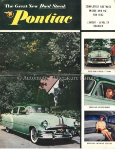 1953 PONTIAC CHIEFTAIN / CATALINA PROGRAMMA BROCHURE ENGELS