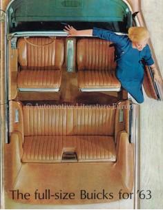 1963 BUICK THE FULL-SIZE BUICKS FOR '63 RANGE BROCHURE ENGLISH
