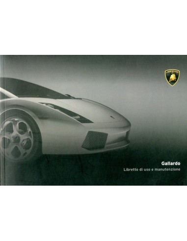 2005 LAMBORGHINI GALLARDO COUPE INSTRUCTIEBOEKJE ITALIAANS