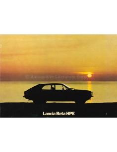 1977 LANCIA BETA HPE PROSPEKT ENGLISCH