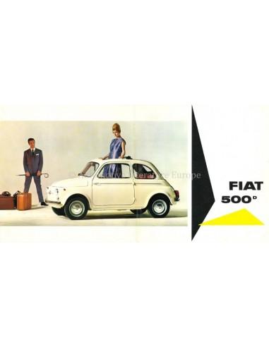 1965 FIAT 500D / GIARDINIERA BROCHURE DUTCH