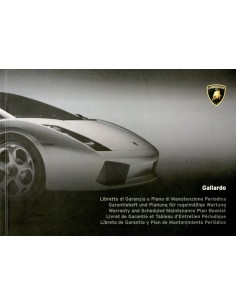2003 LAMBORGHINI GALLARDO COUPE WARRANTY & MAINTENANCE MANUAL
