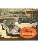 1955 LAND ROVER SERIES I 4-WHEEL DRIVE LONG WHEELBASE BROCHURE ENGLISH
